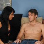 Isabella Montoya is turned on by her shirtless stepson and moves closer to him