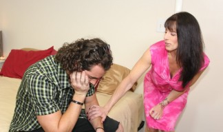 Stepmom reassures her stepson after he gets dumped