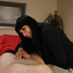 Isabella Montoya strokes the cock of her younger stepson
