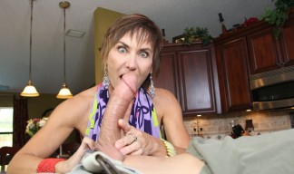 Lilian Tesh is shocked at the size of a young man's giant penis
