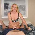 Sky Martin catches her stepson masturbating and grabs his cock