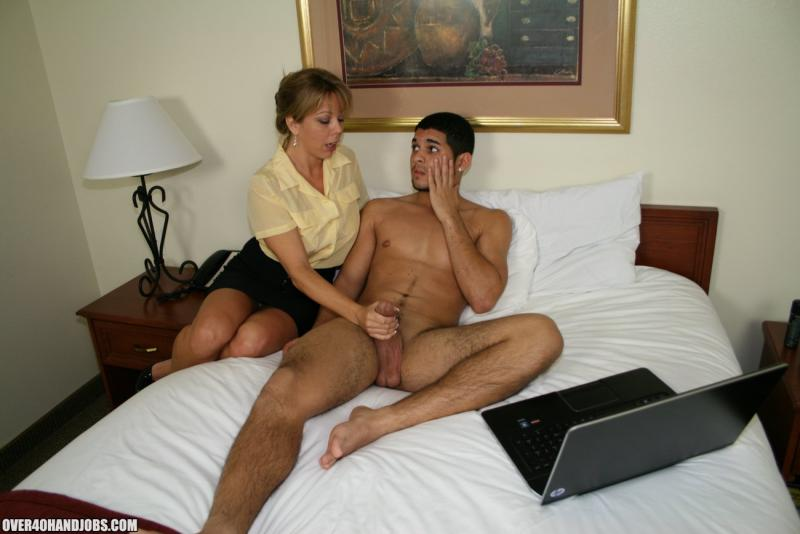 Situation familiar Nude mom gives son blow job with