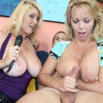 Amber-Bach-jerks-a-cock-while-Charlee-Chase-watches