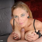 Madison Paige gives her stepson a titjob