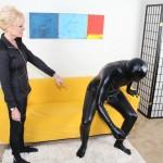dominant granny bosses around her slave