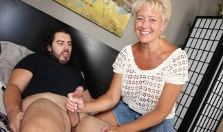 tracy giving a handjob