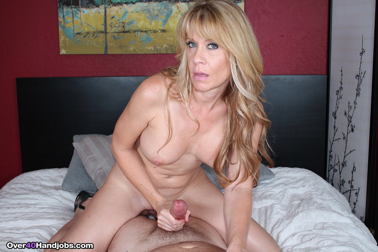Blonde milf gives live anal fingering blowjob 10
