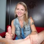 Alina Long jerking a big cock