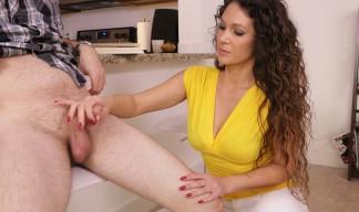 Jessica Torres giving a handjob
