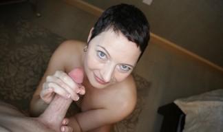 Kali Karinena jerking cock