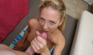Cheri DeVille giving a handjob