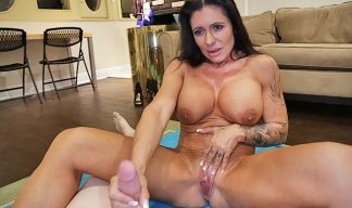 Muscle milf gives handjob and jerk cock