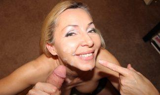 Lisa Demarco gets a messy facial