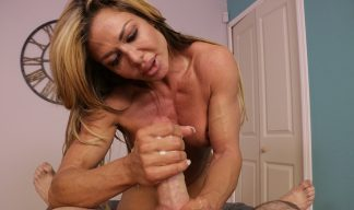 Nina Dolci jerking cock