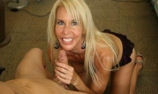 Erica Lauren stroking cock