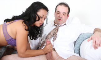 Lucky Starr asian milf handjob
