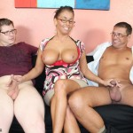 MILF Stacie Starr Jerks Off Her Hubby And Step Son At The Same Time