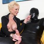 Dominant Granny Nikki Sixxx Jerks Off Her Slave