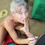 Granny Leilani Lei Masturbates While Jerking Off Step Son