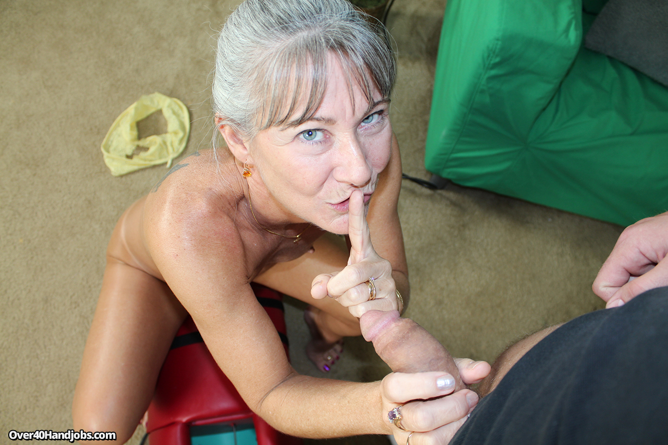 Sexy Granny Jerks Off Her Step Son While Riding Her -9304