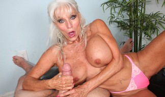 Sally dAngelo makes a cock burst