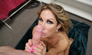 hot milf giving a handjob