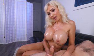 Victoria Lobov stroking cock