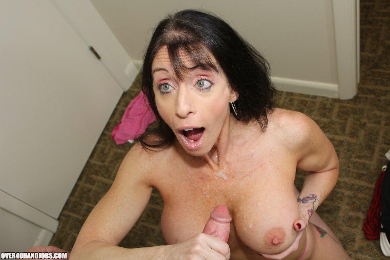 mature nude handjob