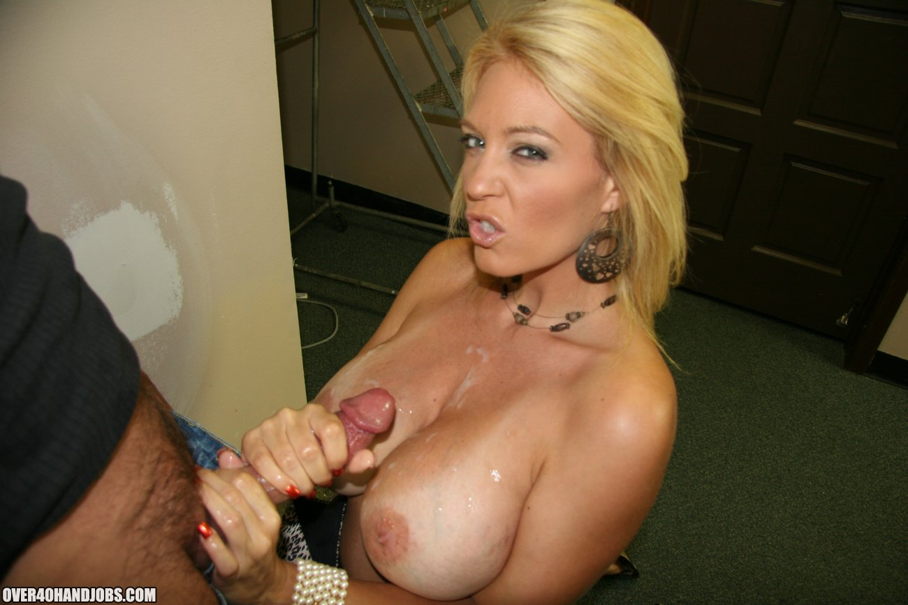 image Busty mature charlee chase jerking cock pov