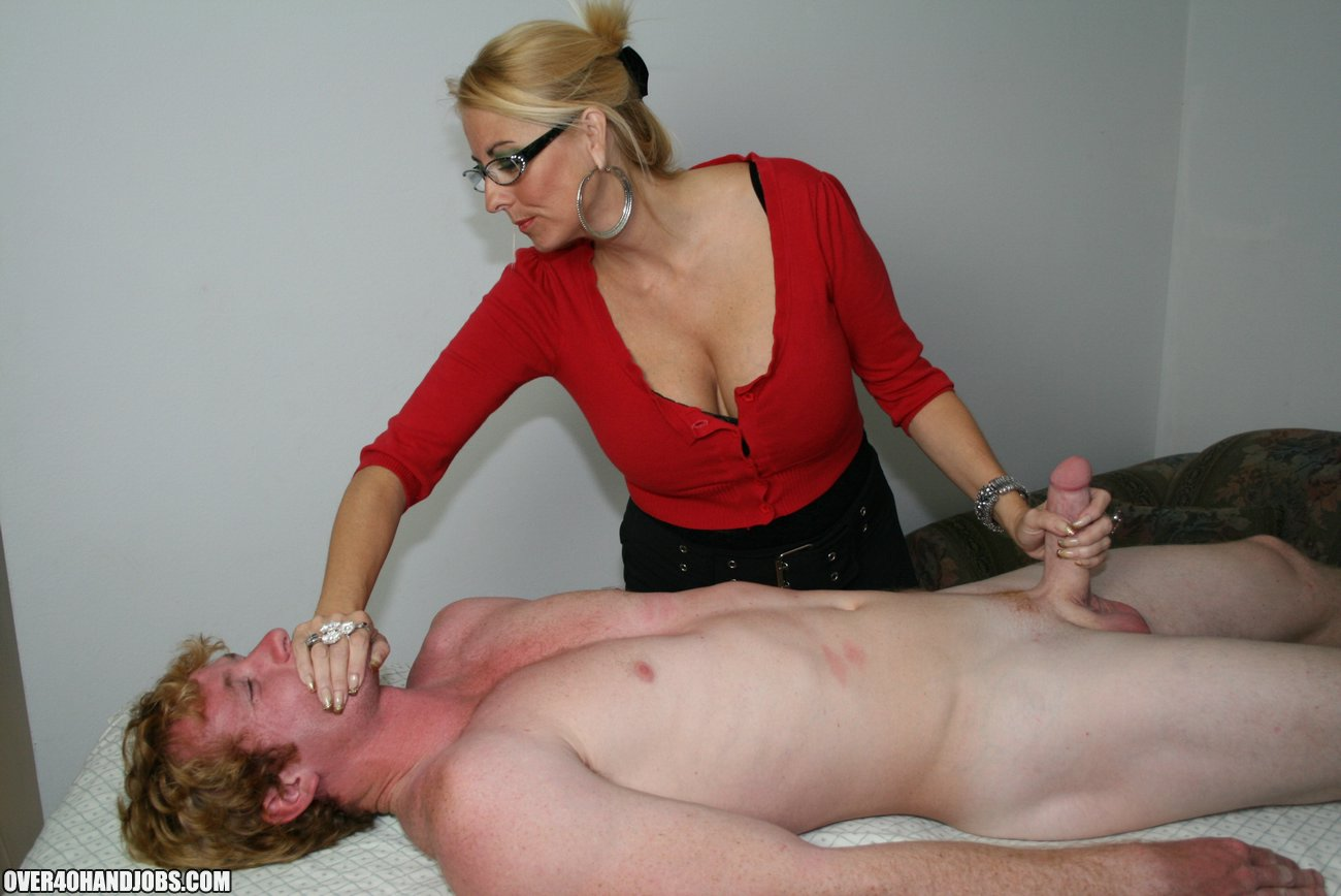 Milf Love Young Stud Cum On Over40Handjobscom-7499