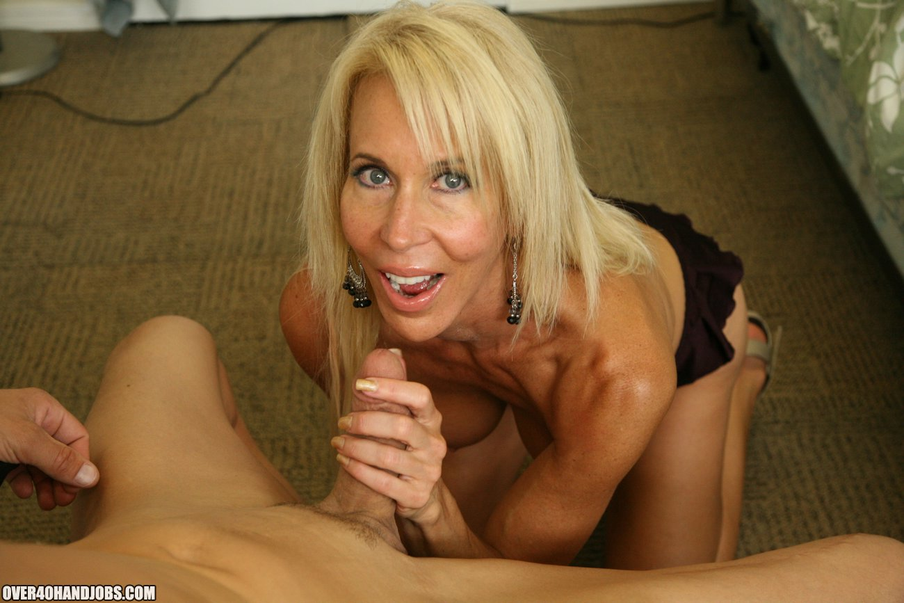 Does Cock handjob milf Skinny/small dicks