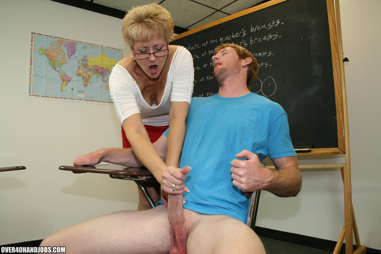 Handjob from teacher