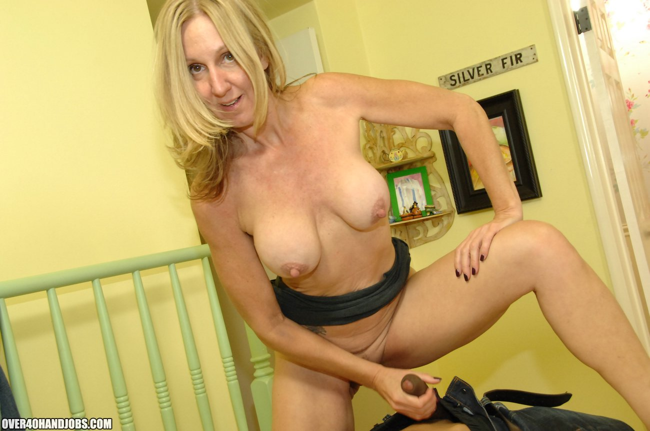 mom jenna covelli loves to handjob to her sons friends - over 40