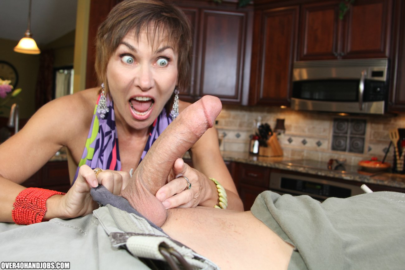 Doing handjob by mature hot