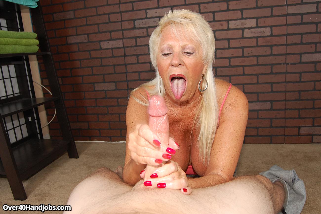 Busty Mature Woman Handjob Min