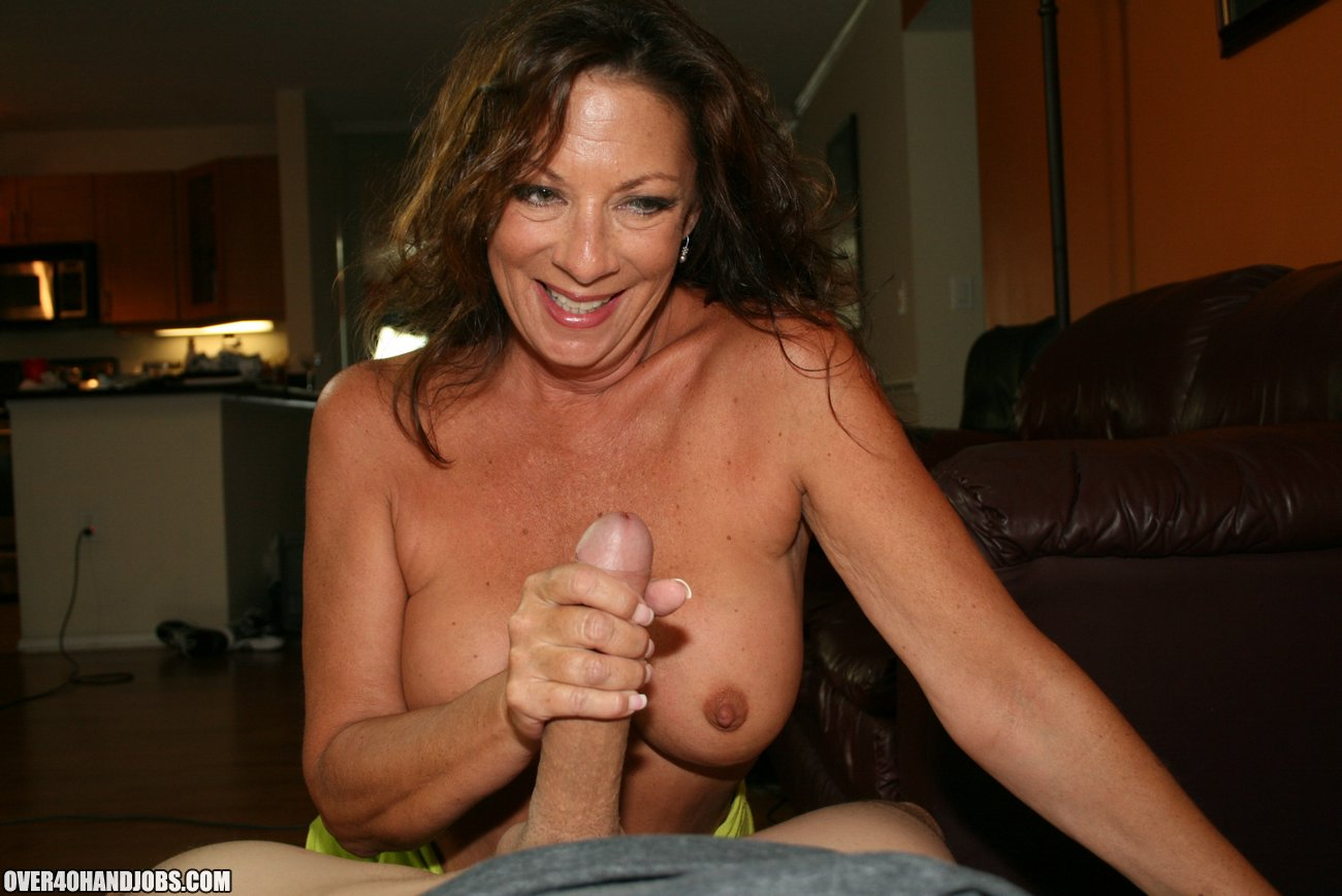 older woman handjob