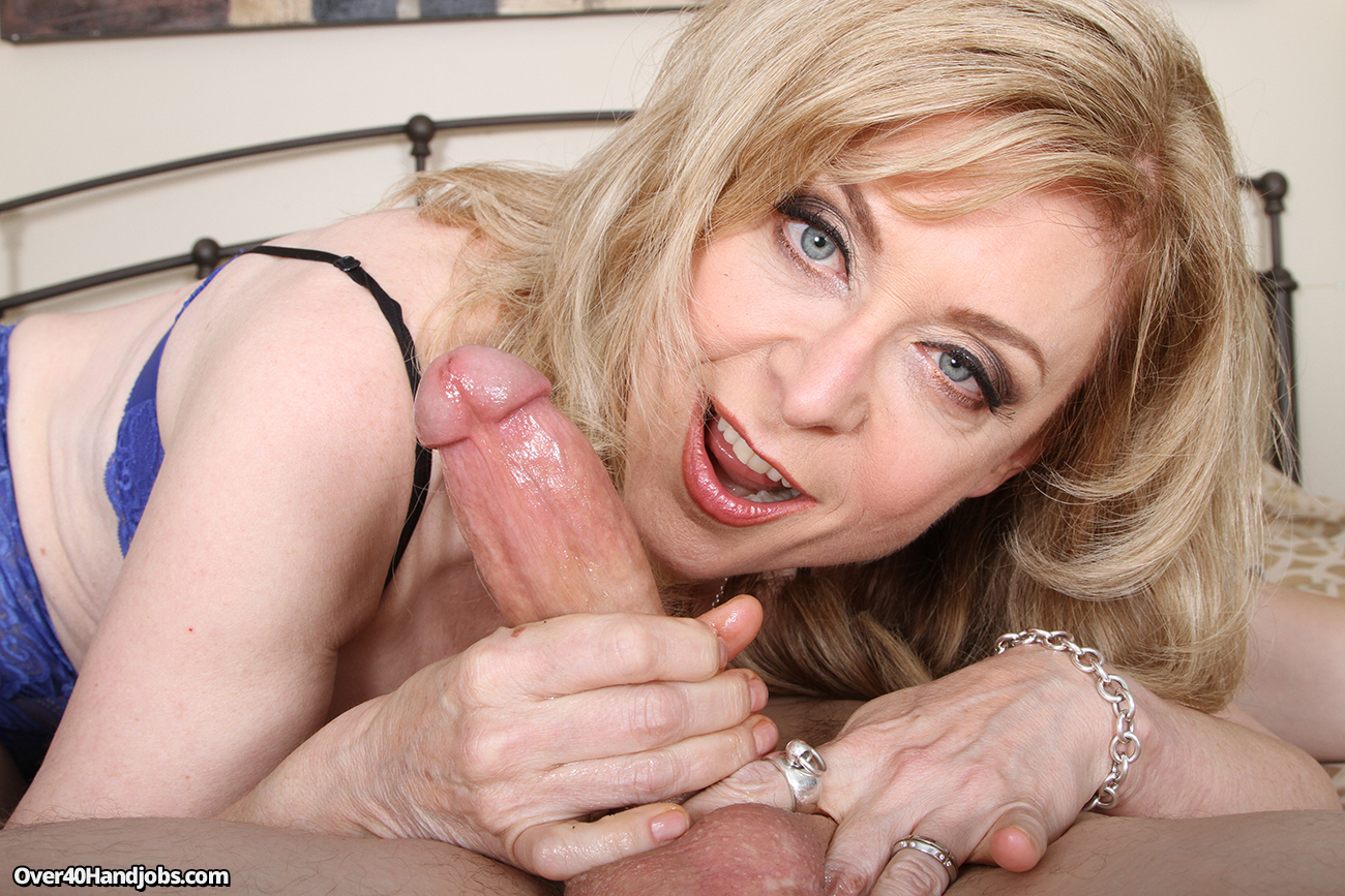 Handjob cum shot in mouth
