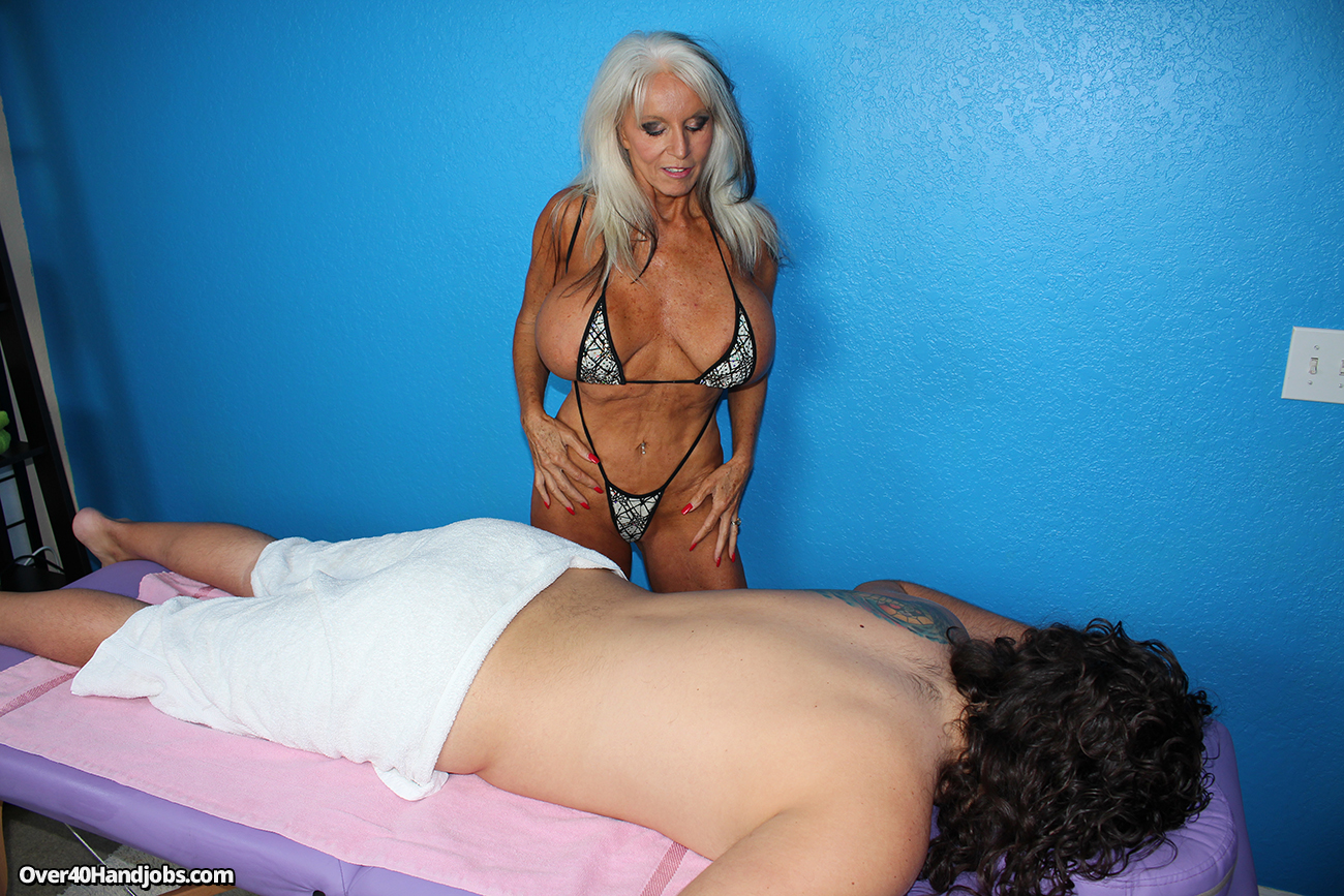 Busty masseuse cock treatment 1