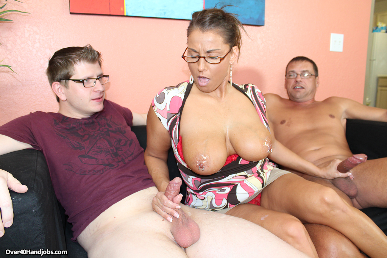 Double fisted step mom over 40 handjobs 7