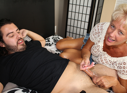 3 Mature Movies - Horny Aunt Tracy jerking off her nephew