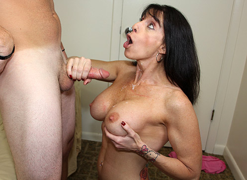 3 Mature Movies - ibette Blanche Helps Jimmy Nut by giving him an over 40 handjob