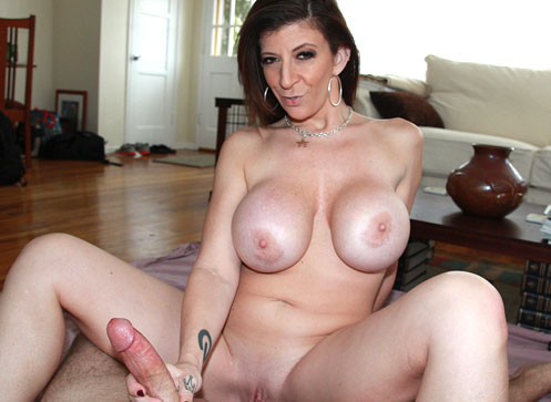 3 Mature Movies - Busty Milf stroking young boy