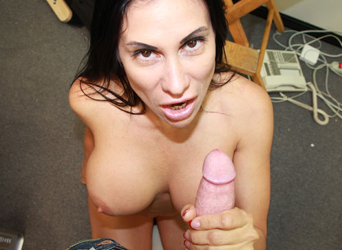3 Handjob Movies - Busty milf Shella jerking off her boss