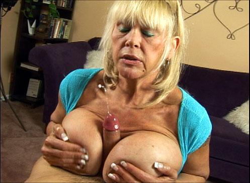Mature big boob hand job clips