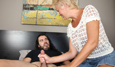1 Mature Movies - Horny Aunt Tracy jerking off her nephew