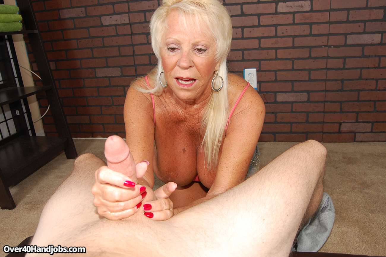 Son handjob riding