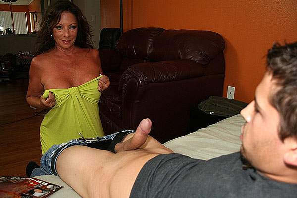 margo gives william a mature hand job
